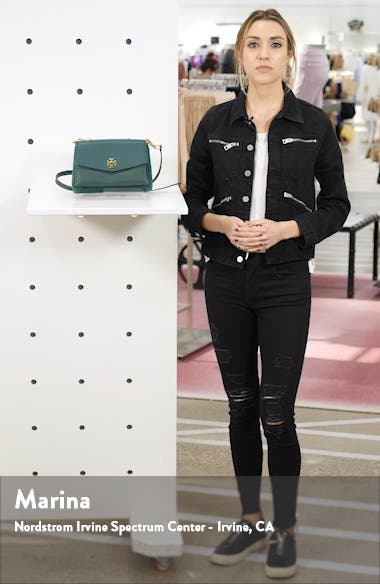 Kira Mixed Leather Crossbody Bag, sales video thumbnail