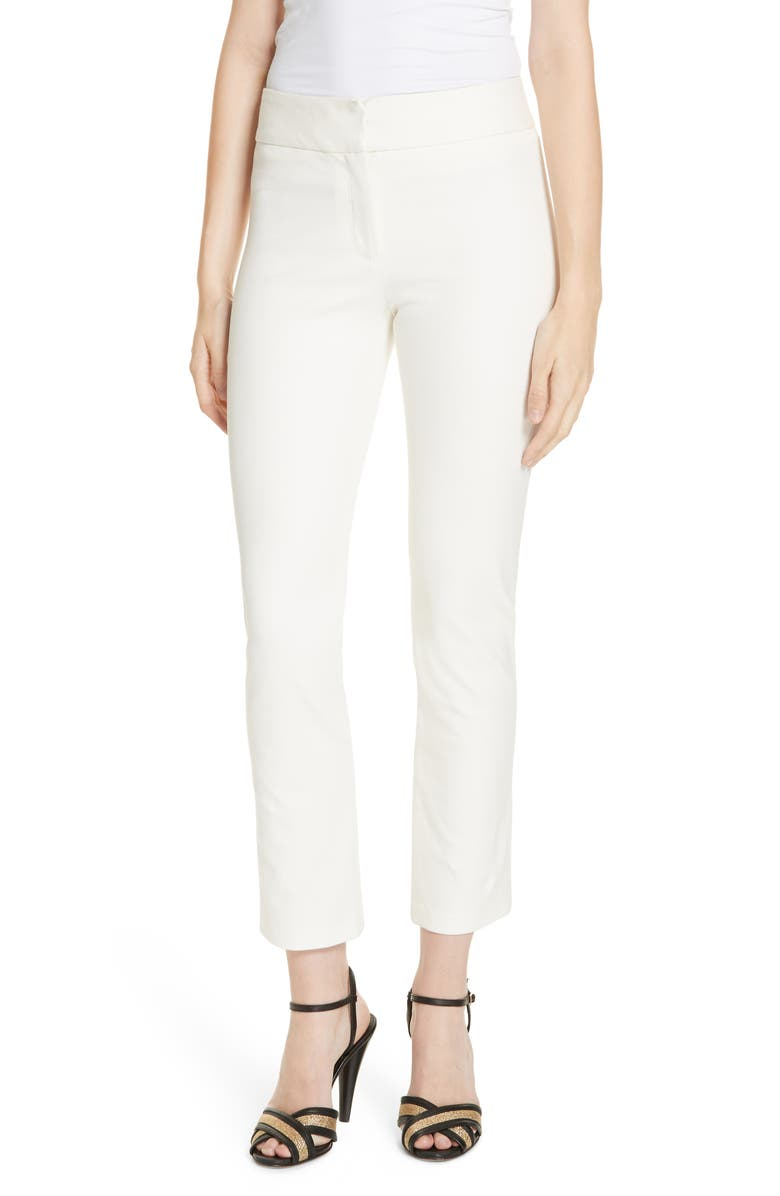 VERONICA BEARD Rumi Slim Leg Pants, Main, color, OFF-WHITE