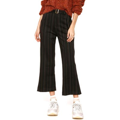 Heartloom Jaden High Waist Flare Leg Crop Pants, Black