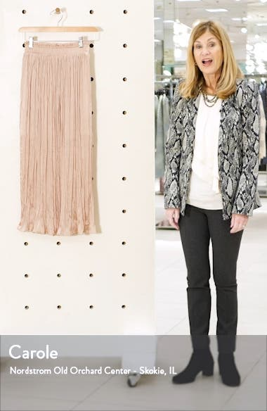 Pleated Crushed Satin Skirt, sales video thumbnail