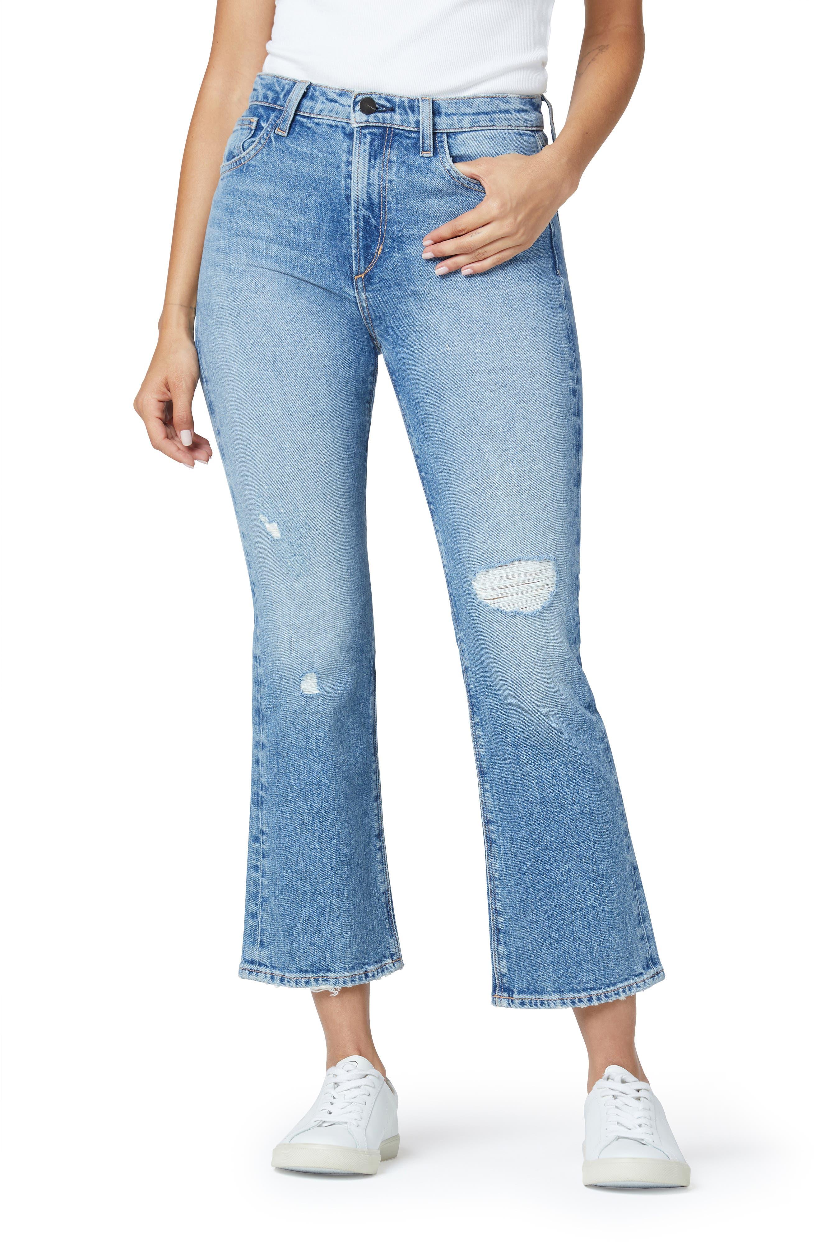 The Callie High Waist Crop Bootcut Organic Cotton Jeans