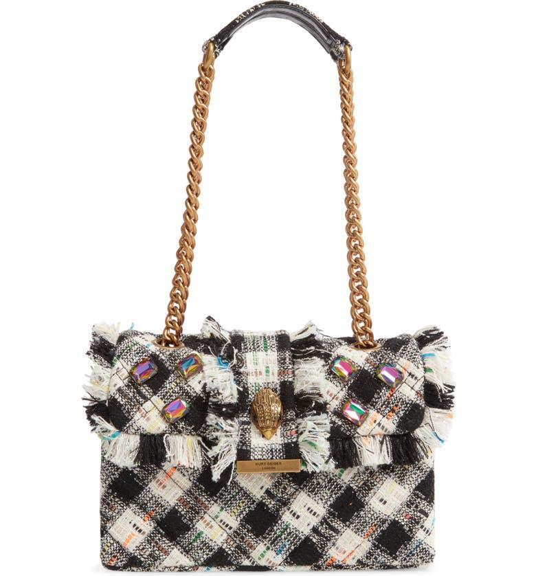 KURT GEIGER LONDON Kensington X Tweed Shoulder Bag, Main, color, MULTI/OTHER