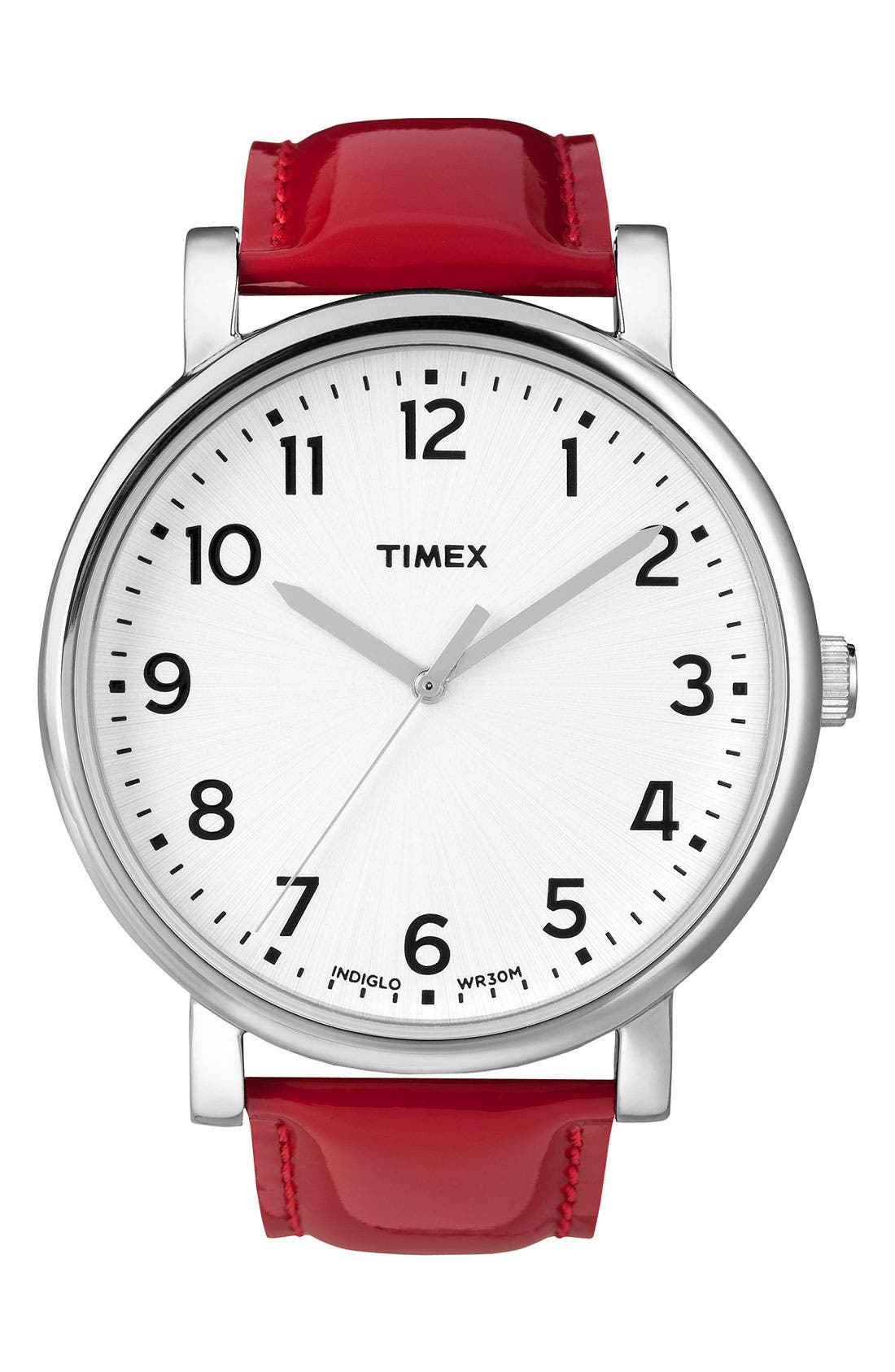 ,                             'Easy Reader' Leather Strap Watch, 42mm,                             Main thumbnail 16, color,                             600