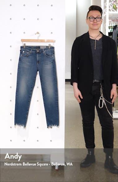 The Prima Destroyed Crop Hem Cigarette Jeans, sales video thumbnail