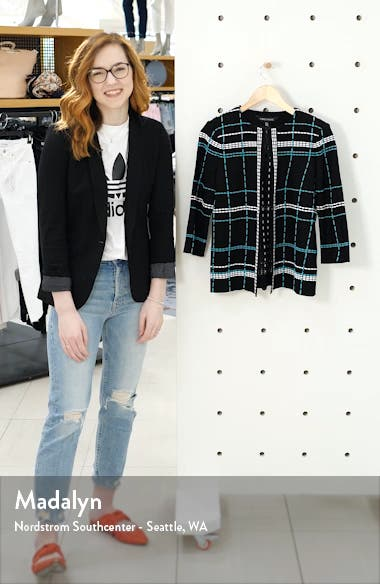 Pickstitch Plaid Boxy Jacket, sales video thumbnail