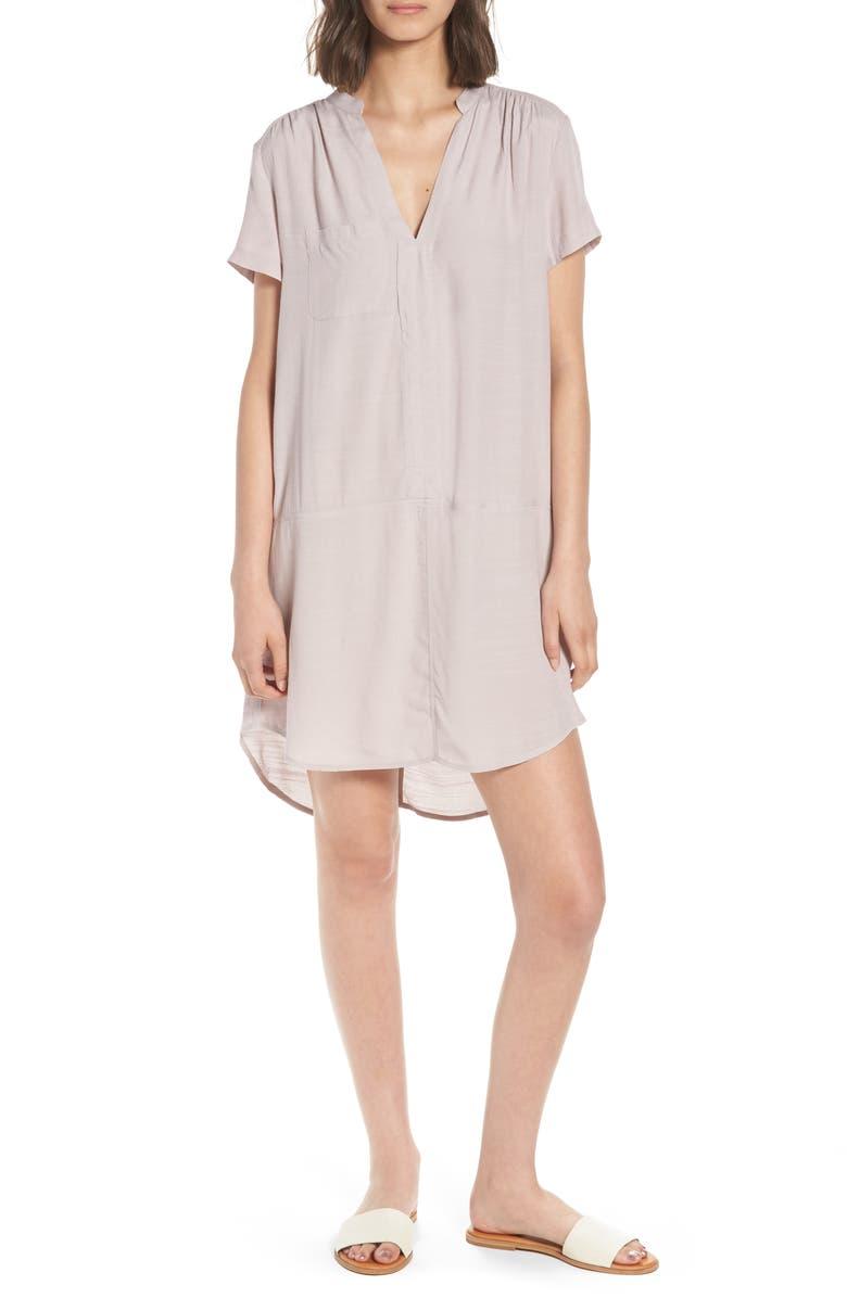 --- Split Neck Shift Dress, Main, color, 077