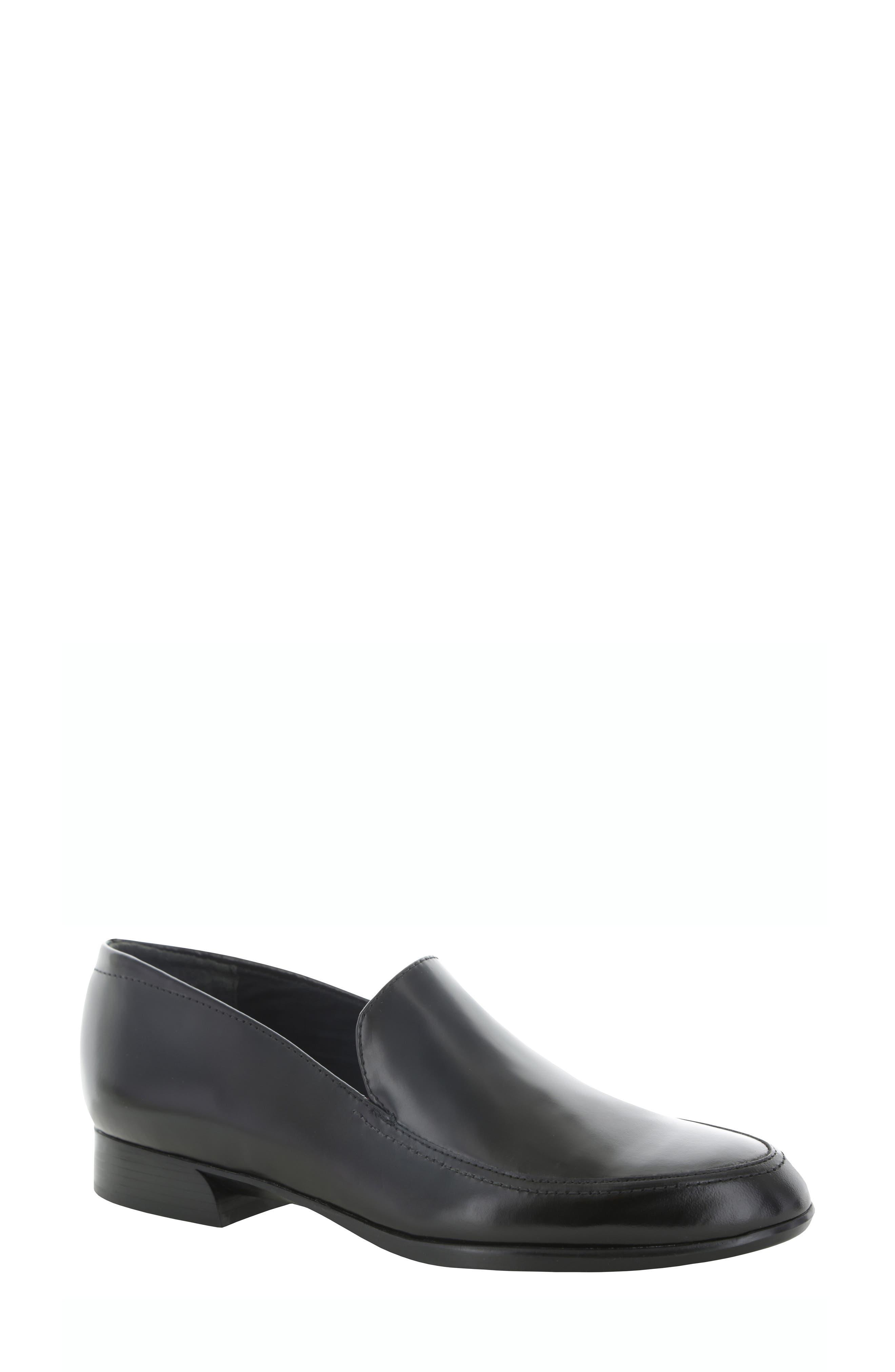 Harrison Loafer, Main, color, BLACK LEATHER