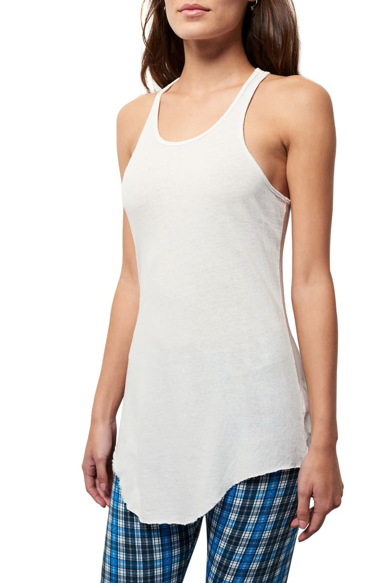 FRANK & EILEEN Tee Lab Long Layering Tank, Main, color, DIRTY WHITE