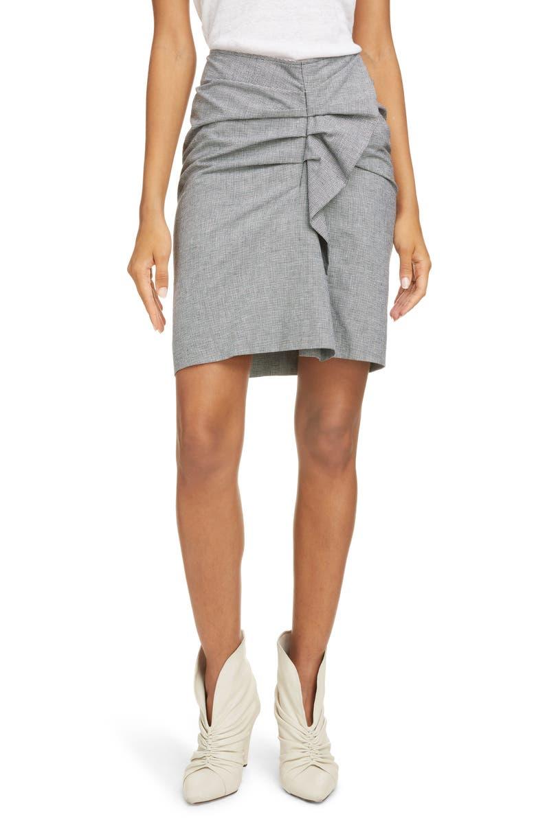 ISABEL MARANT ÉTOILE Ines Ruffle Skirt, Main, color, BLACK