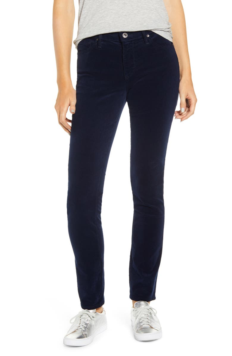 AG 'Prima' Corduroy Skinny Pants, Main, color, DEEP TRENCHES
