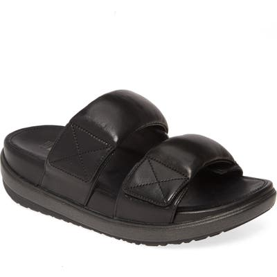 Fitflop Loosh Luxe Slide Sandal, Black