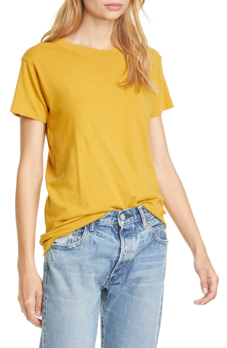 THE GREAT. The Slim Tee, Main, color, BUTTERSCOTCH