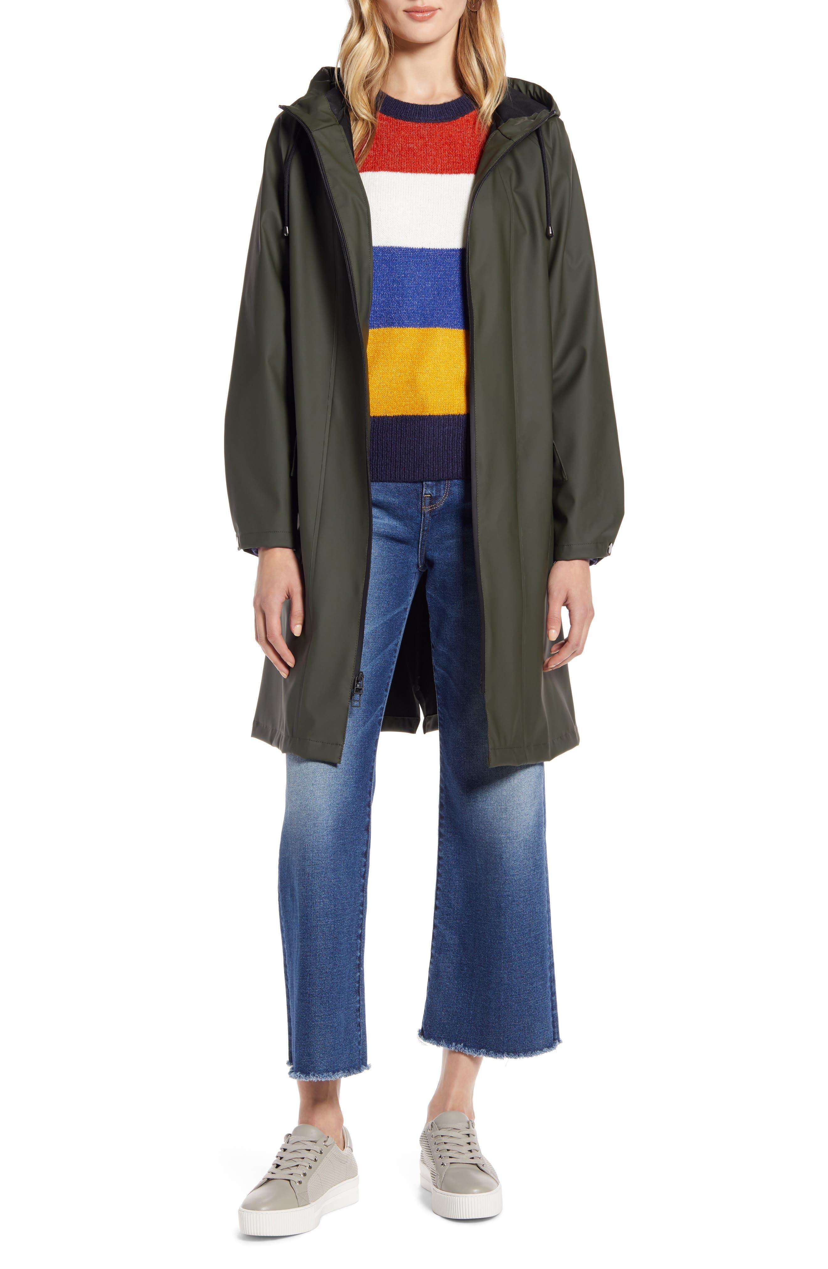 Halogen® Waterproof Hooded Rain Jacket