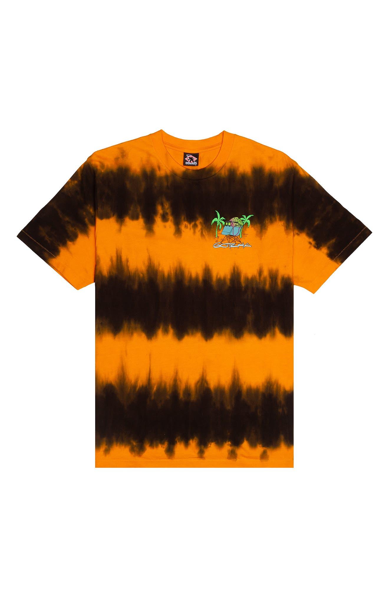 Men's Getaway Tie Dye Cotton Graphic Tee