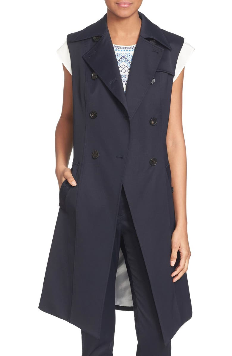 VERONICA BEARD 'Socal Trench' Vest, Main, color, 414