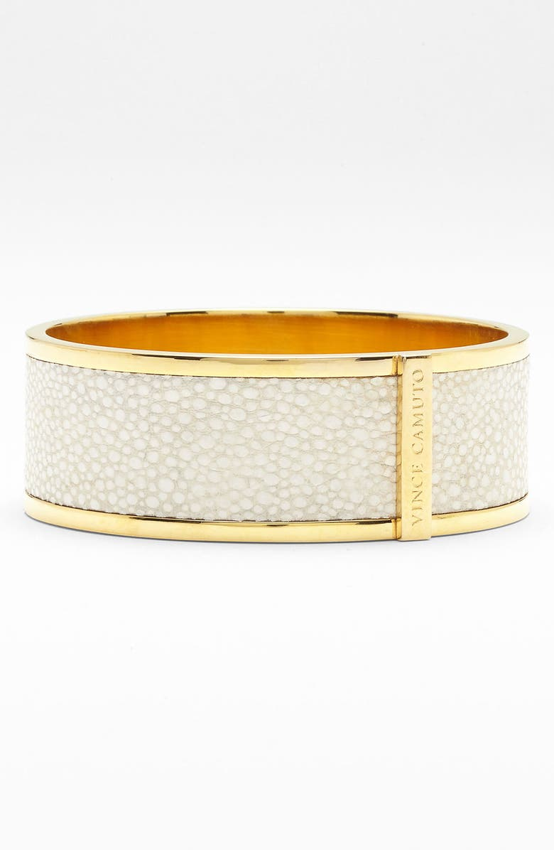 VINCE CAMUTO Leather Bangle, Main, color, 100