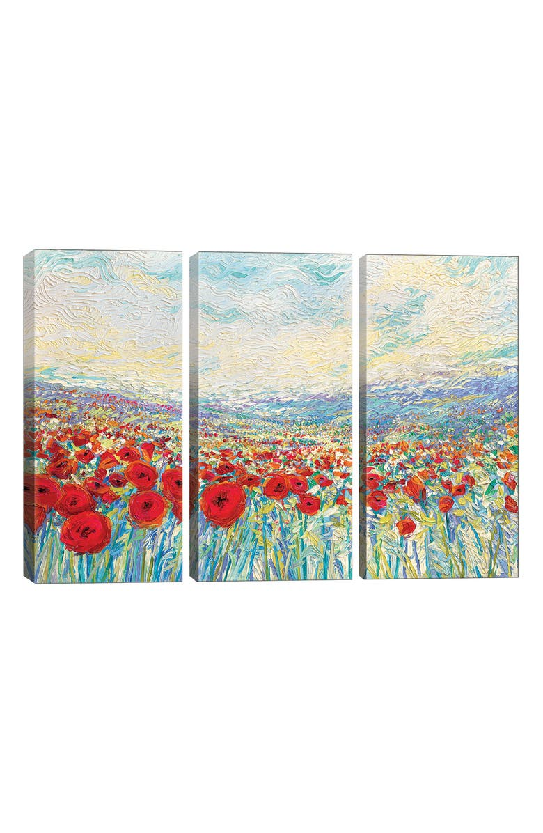 ICANVAS Poppies of Oz by Iris Scott Giclée Print Canvas Art, Main, color, BLUE