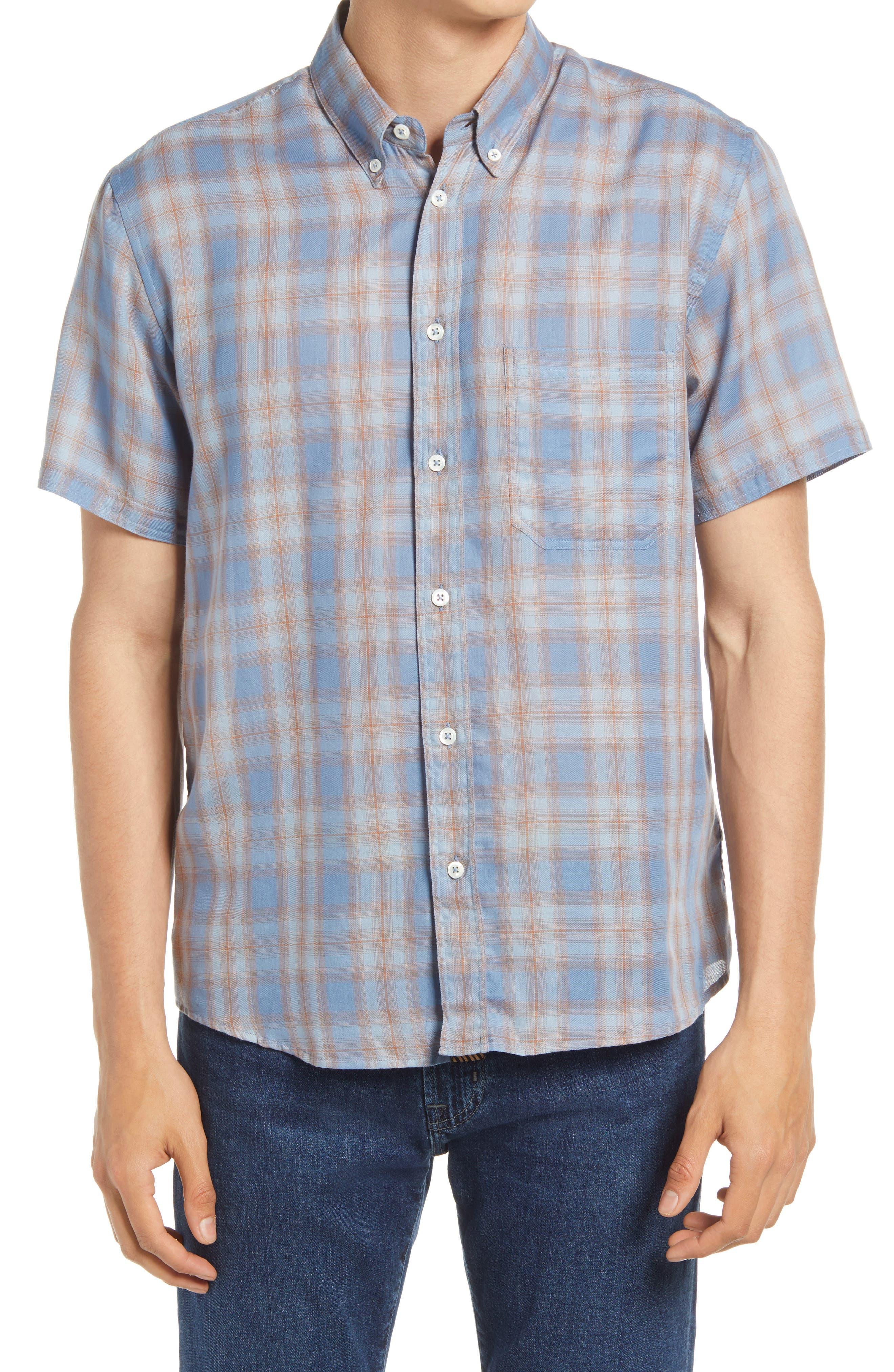 Tuscumbia Regular Fit Plaid Short Sleeve Button-Down Shirt