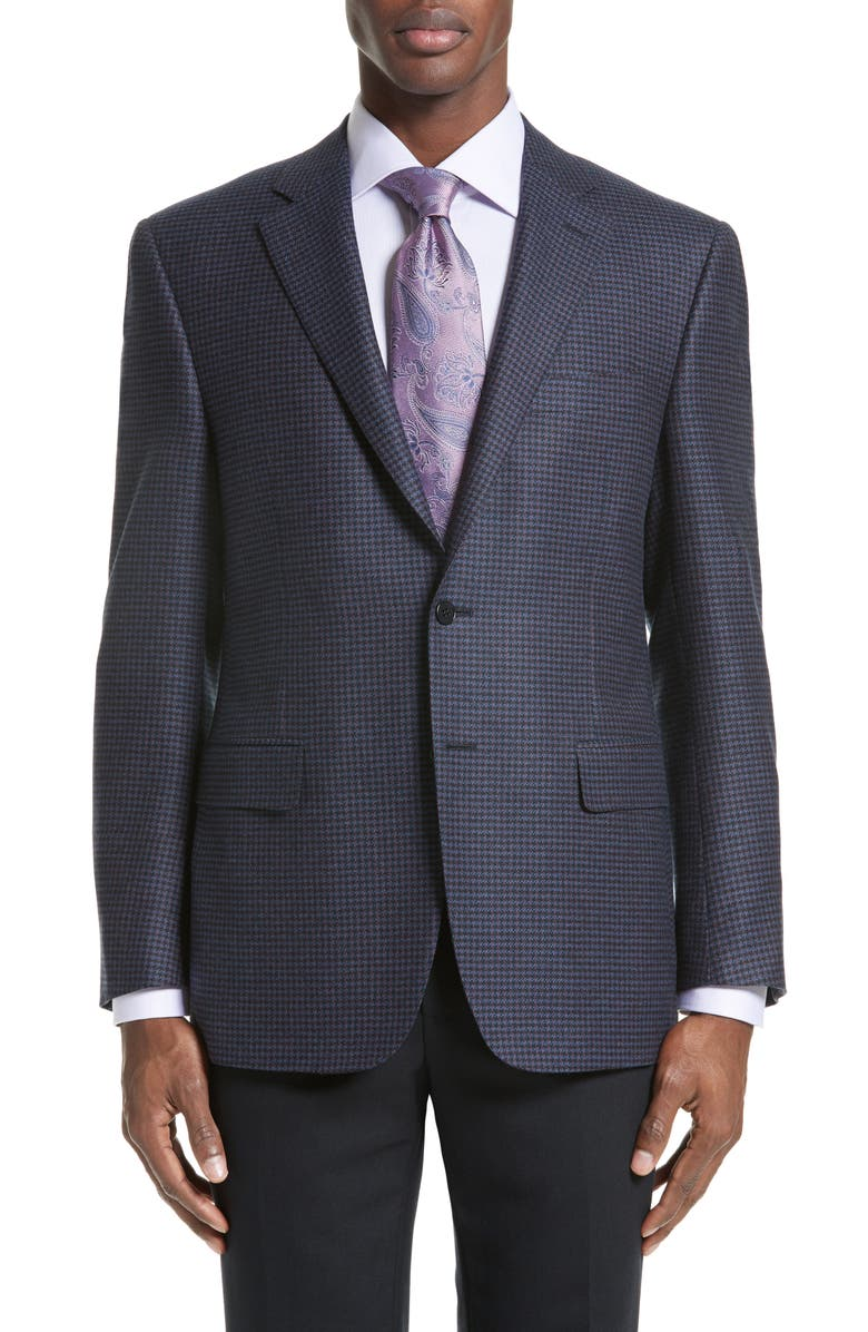 CANALI Classic Fit Houndstooth Wool Sport Coat, Main, color, 400