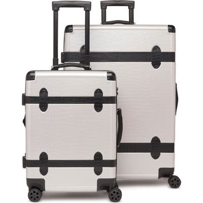Calpak 20-Inch & 28-Inch Trunk Rolling Luggage Set - Grey