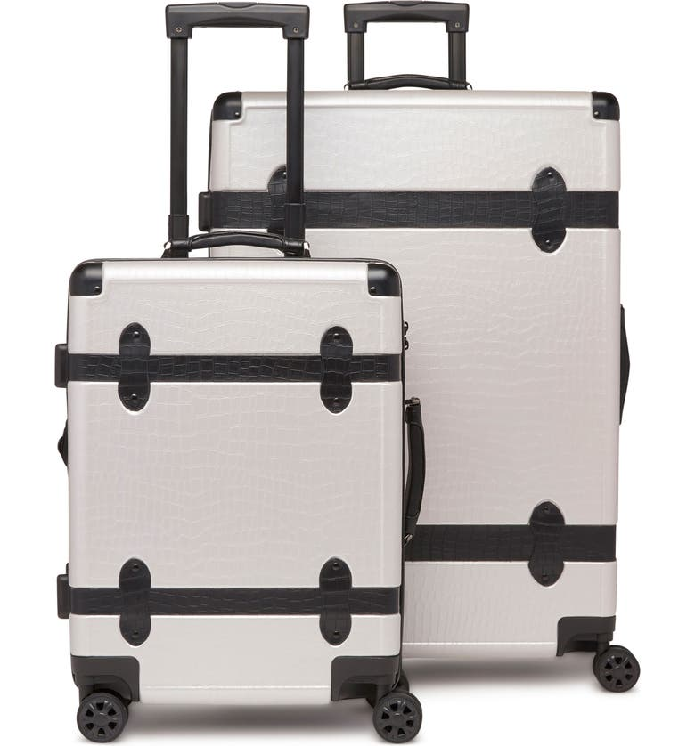 CALPAK 20-Inch & 28-Inch Trunk Rolling Luggage Set, Main, color, GRAY