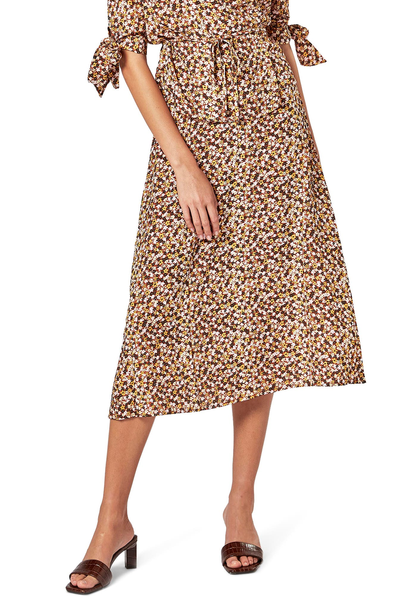 Mimi Floral Midi Skirt