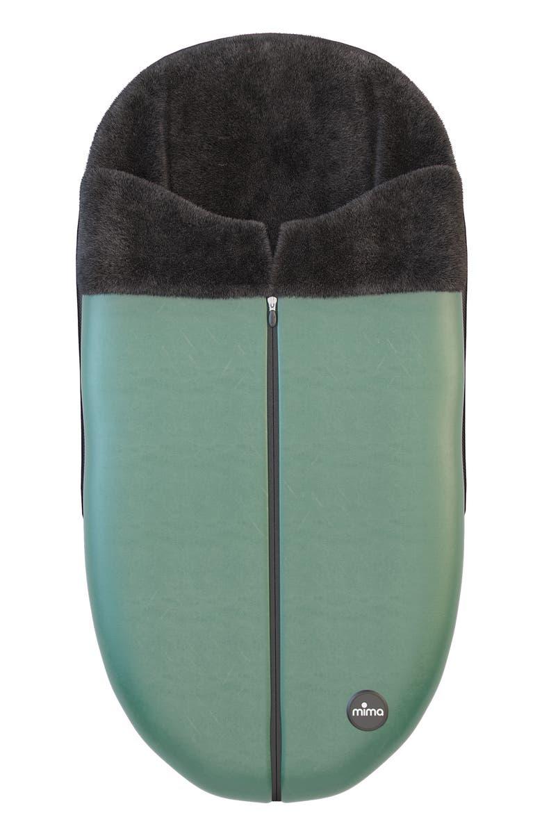 MIMA Faux Leather Footmuff for Xari Stroller, Main, color, BRITISH GREEN