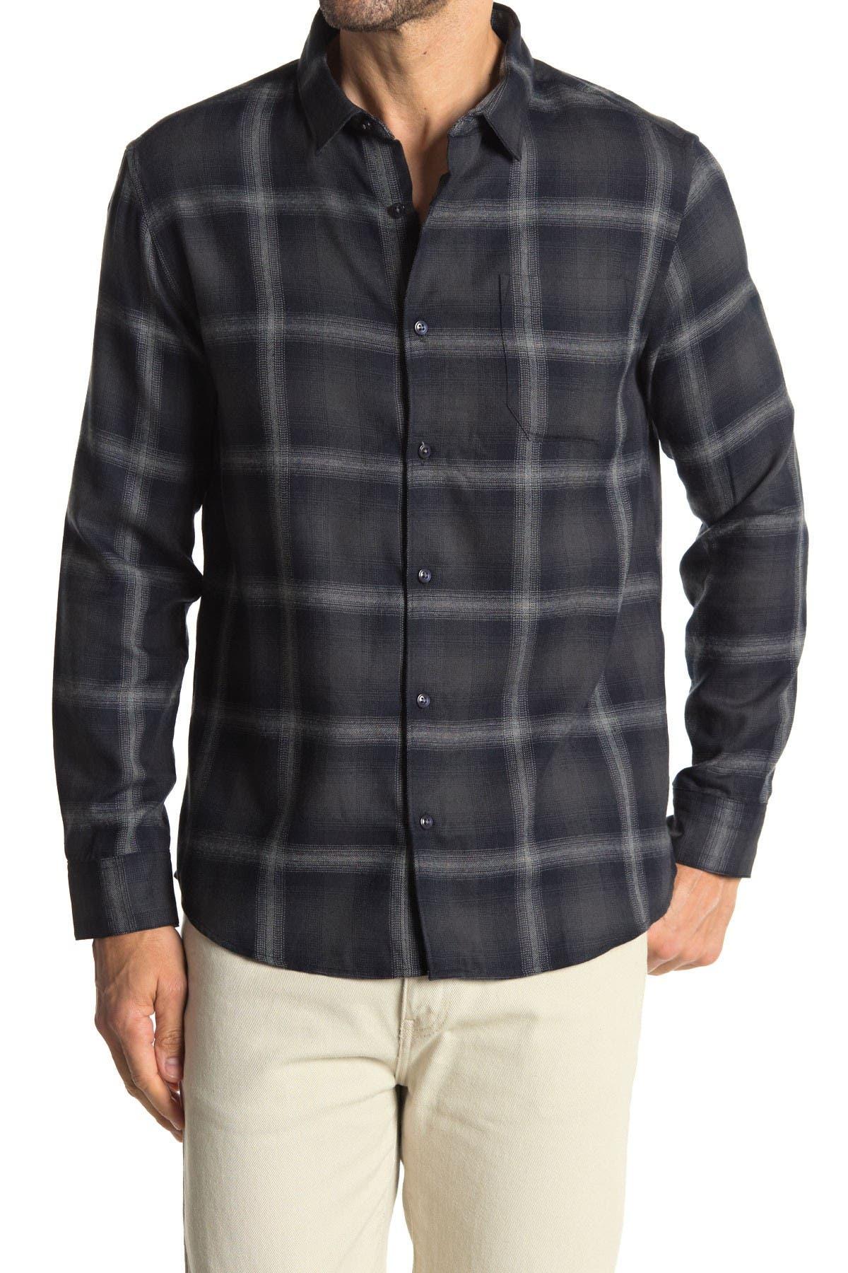 Image of 7 Diamonds Broken Halo Plaid Flannel Slim Fit Shirt
