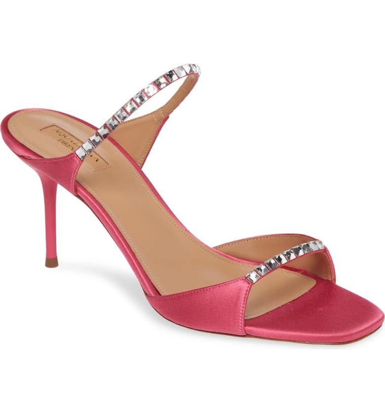 AQUAZZURA Diamante Two Strap Slide Sandal, Main, color, 651