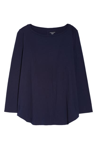 Eileen Fisher BATEAU NECK LONG SLEEVE T-SHIRT