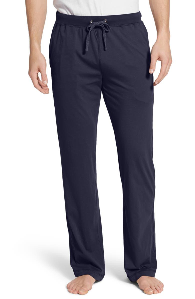 DANIEL BUCHLER Peruvian Pima Lightweight Cotton Lounge Pants, Main, color, NAVY