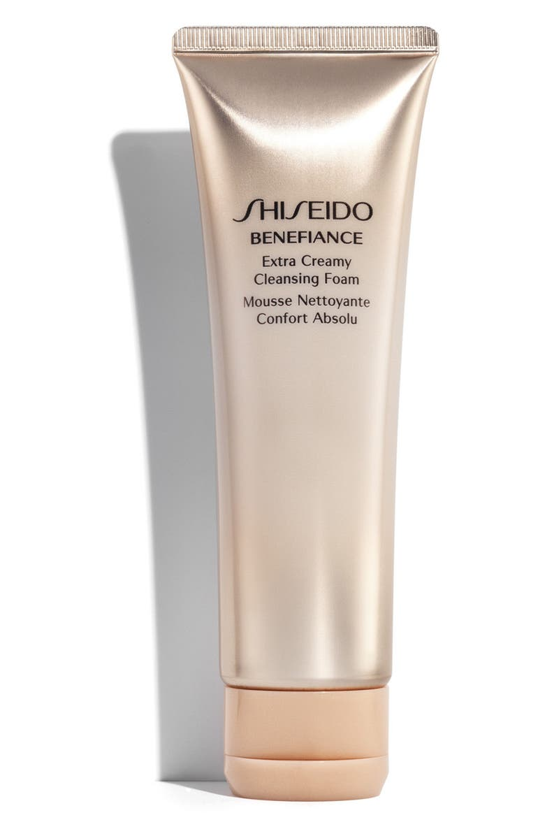 SHISEIDO Benefiance Extra Creamy Cleansing Foam, Main, color, NO COLOR