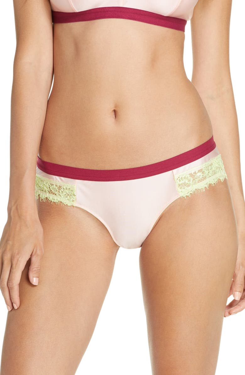 DORA LARSEN Clemence Hipster Briefs, Main, color, PALE ROSE