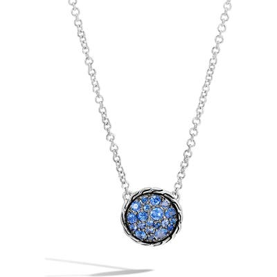 John Hardy Chain Classic Pave Pendant Necklace