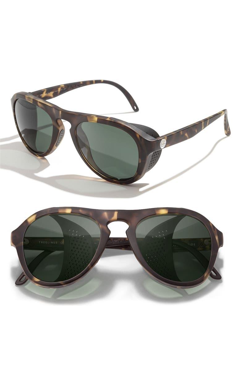 SUNSKI Treeline 63mm Polarized Sunglasses, Main, color, BLACK TORTOISE SLATE