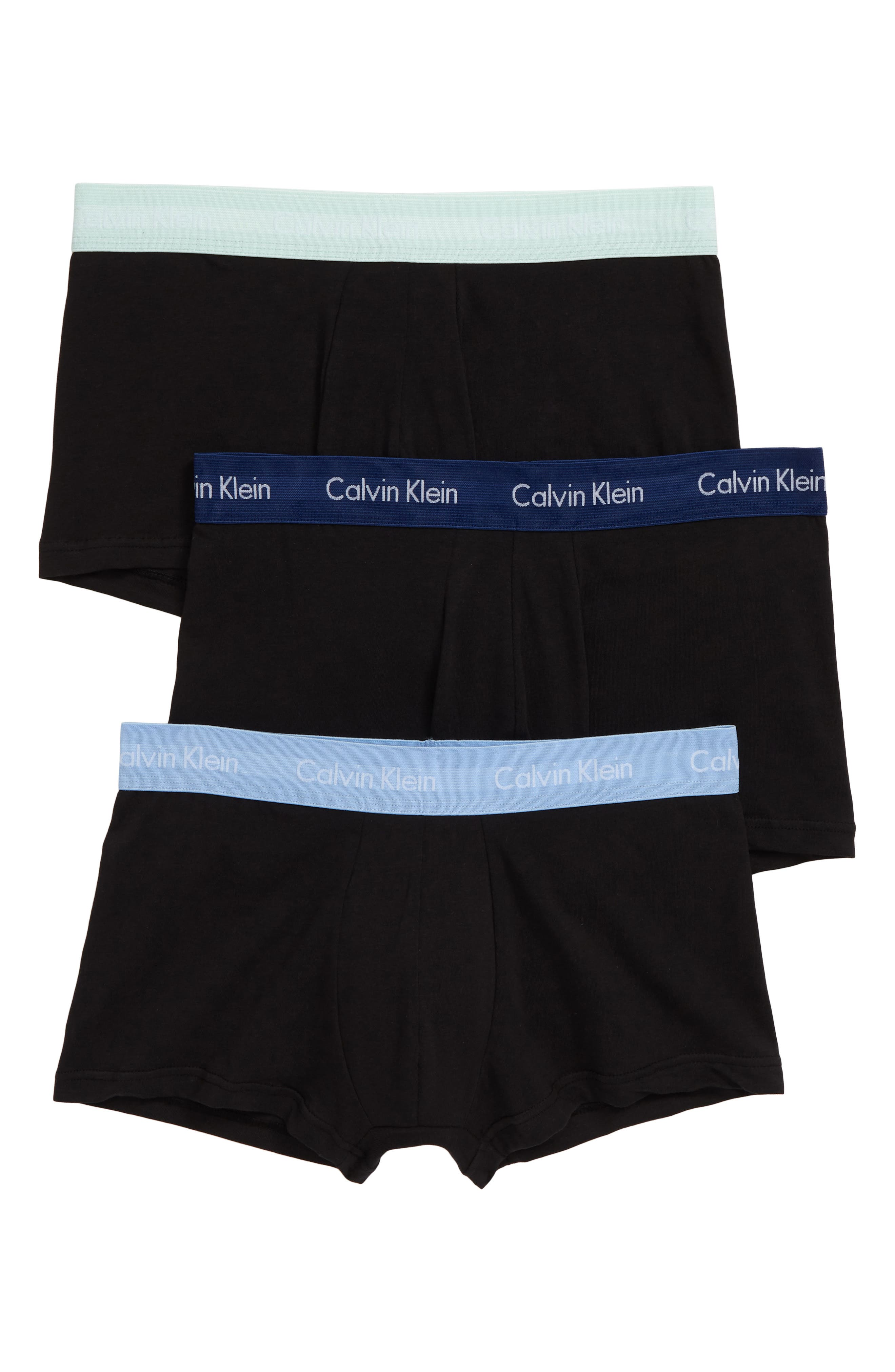 ,                             3-Pack Stretch Cotton Low Rise Trunks,                             Main thumbnail 7, color,                             008