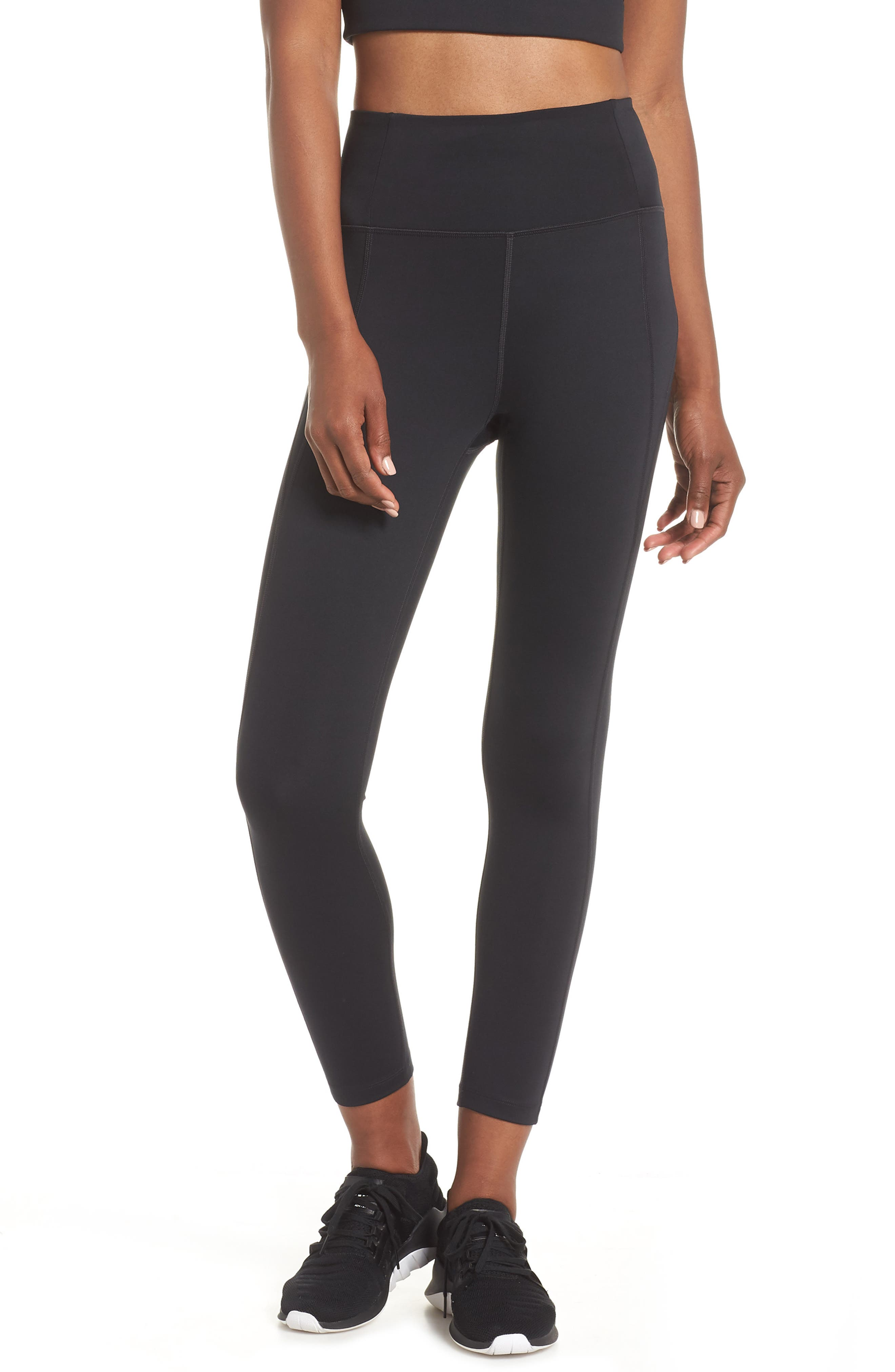 Girlfriend Collective High Waist 7/8 Leggings, Black