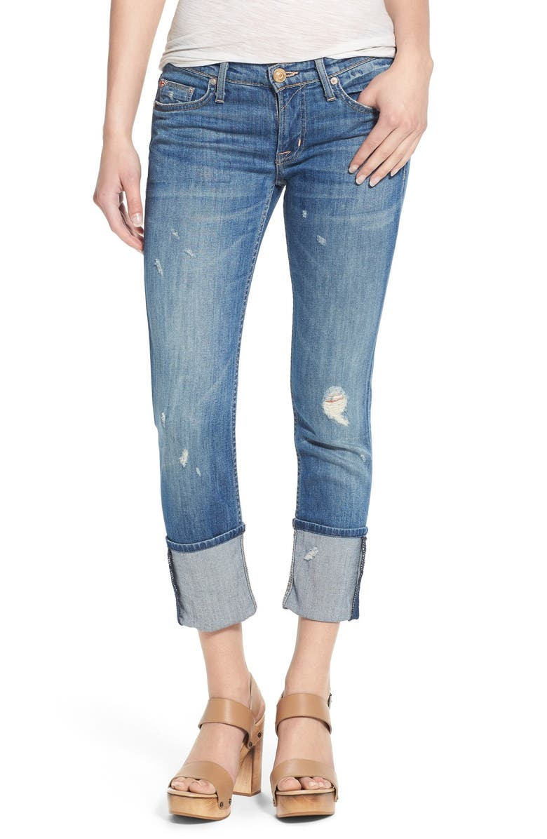 HUDSON JEANS 'Muse' Cuff Crop Jeans, Main, color, 400