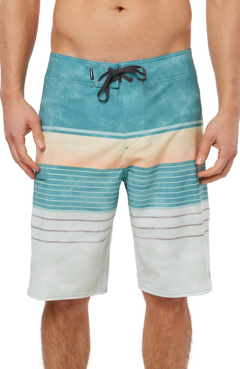 O'NEILL Hyperfreak Heist Board Shorts, Main, color, TURQUOISE