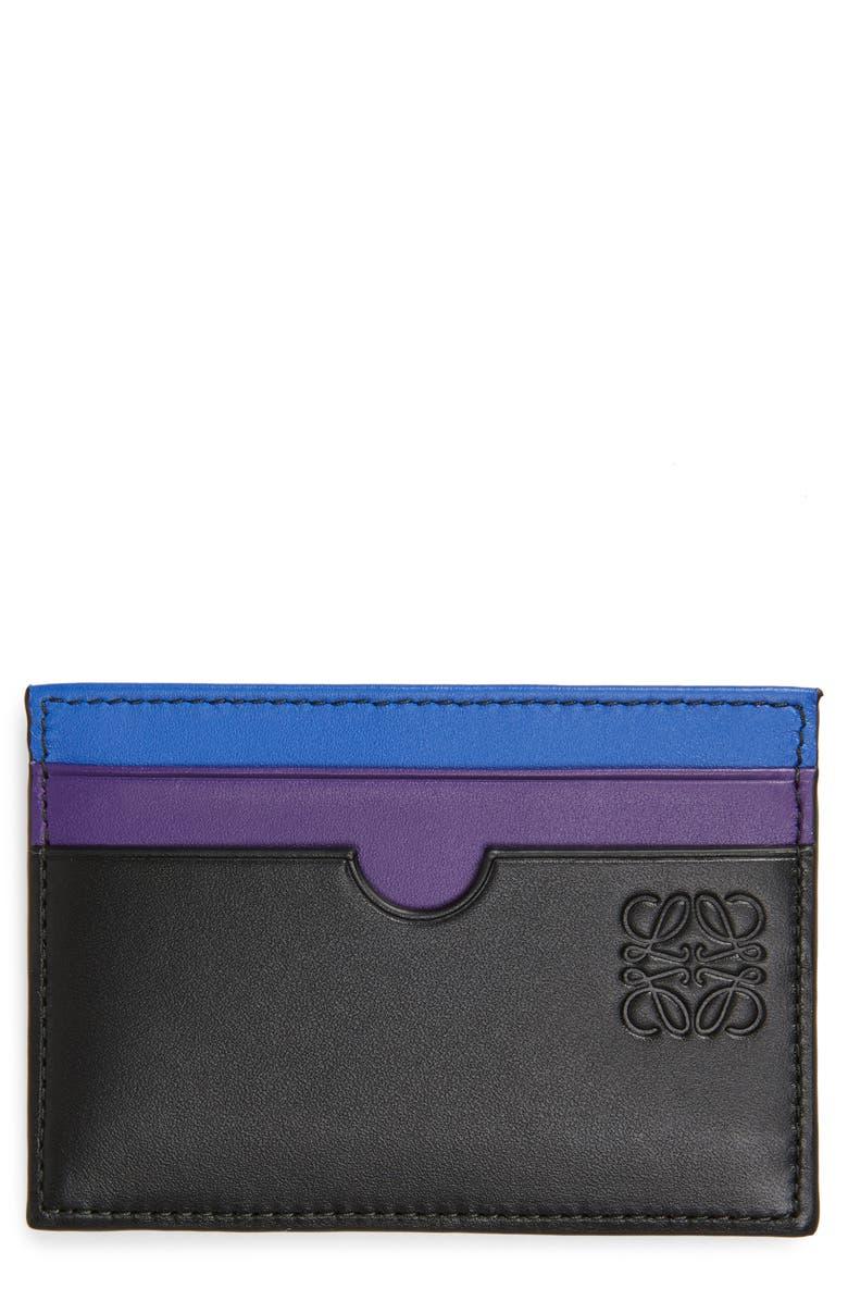 LOEWE Rainbow Plain Card Case, Main, color, 001