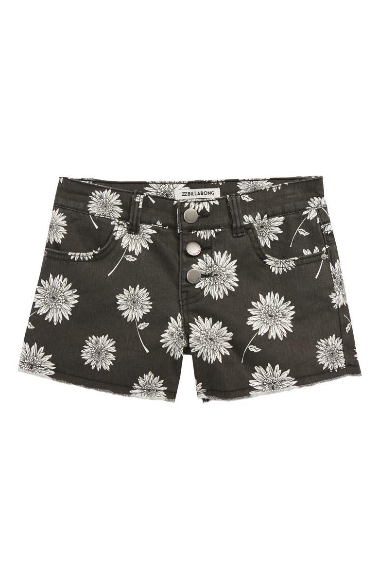 BILLABONG Buttoned Up Denim Shorts, Main, color, 001