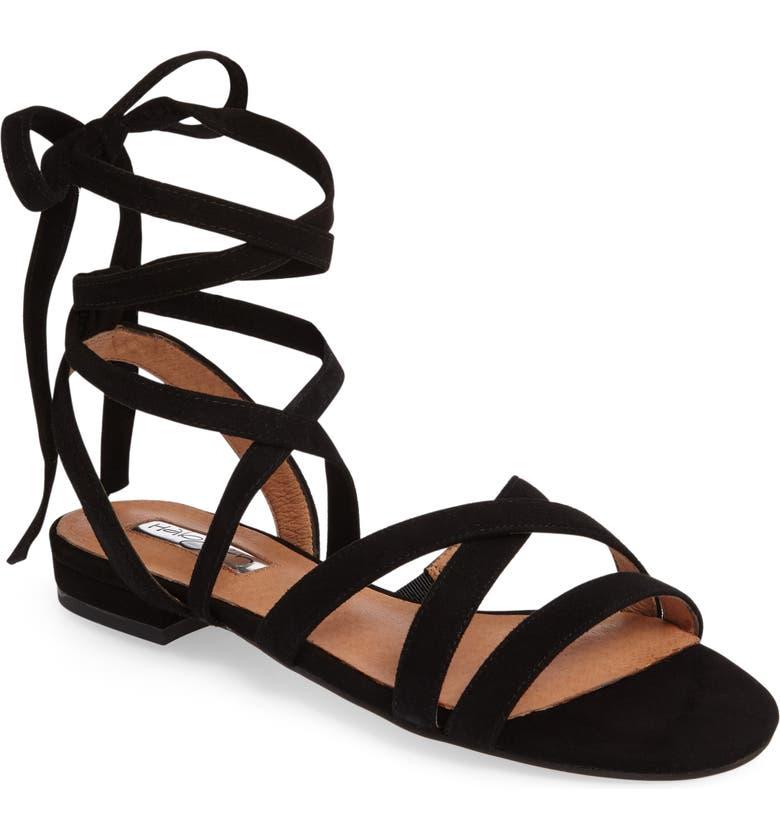 HALOGEN<SUP>®</SUP> Frances Ankle Wrap Sandal, Main, color, 001