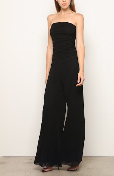 Strapless Tulle Mesh Jumpsuit, video thumbnail