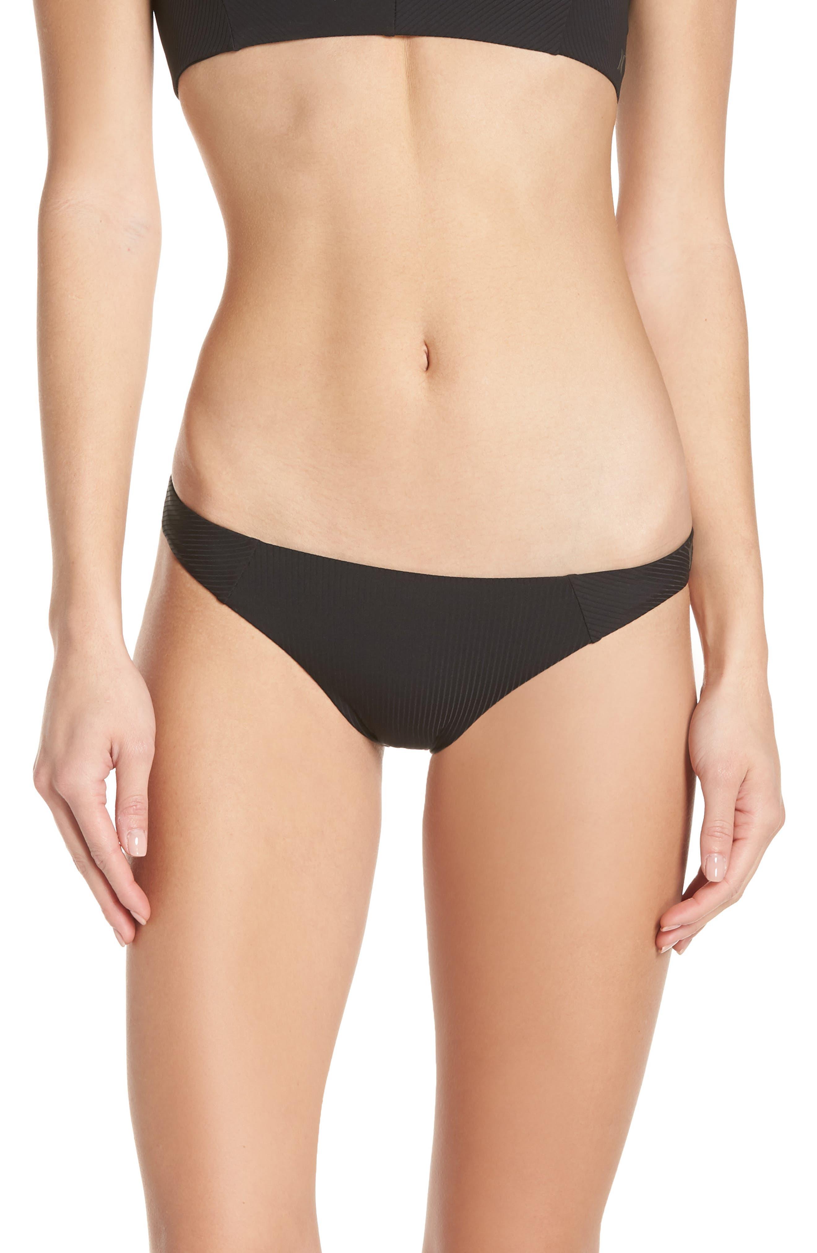 Hurley Quick-Dry Surf Bikini Bottoms, Black