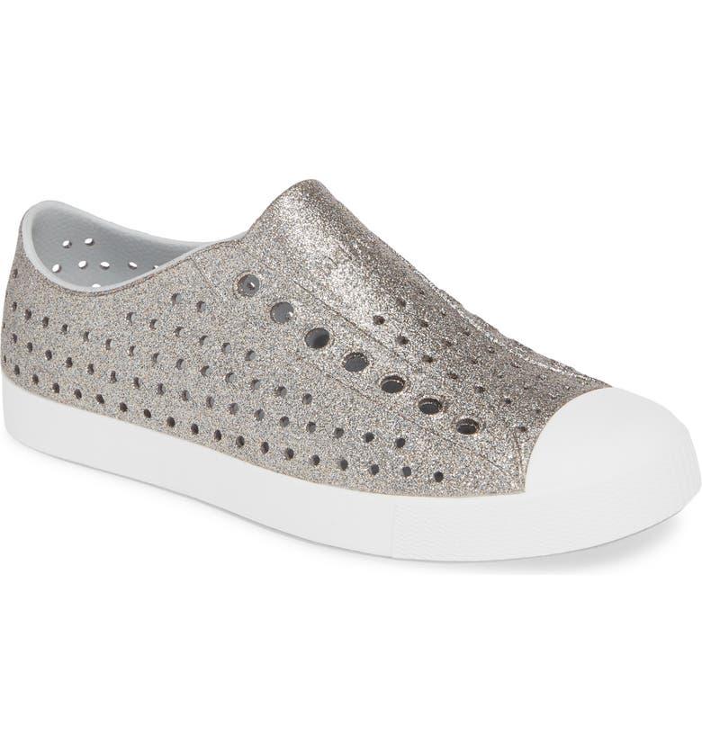 NATIVE SHOES Jefferson Glitter Water Friendly Sneaker, Main, color, 710