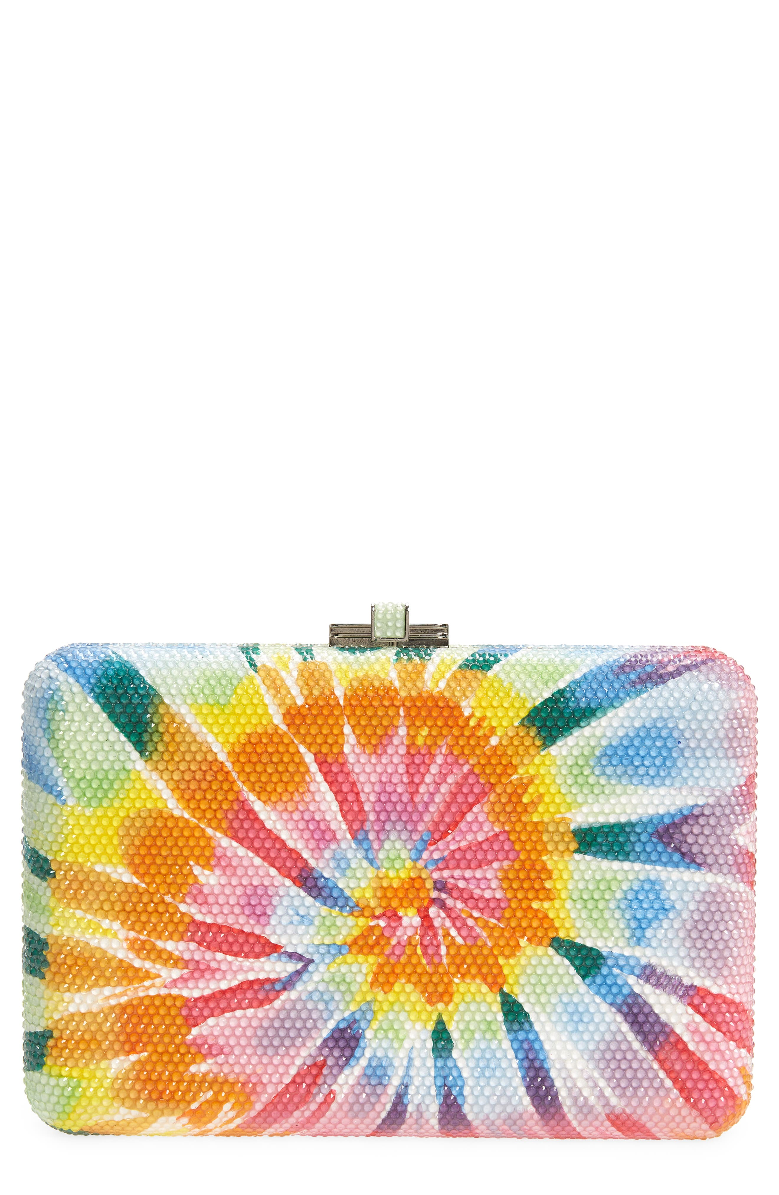 Couture Jerry Slim Slide Tie Dye Crystal Clutch