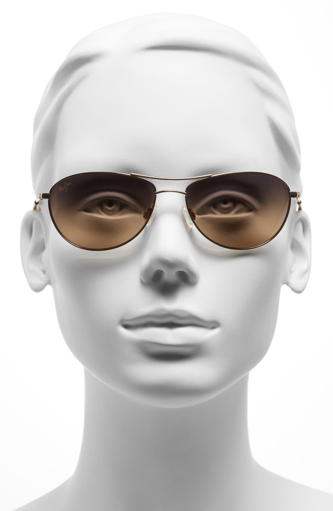 ,                             Baby Beach 56mm PolarizedPlus2<sup>®</sup> Aviator Sunglasses,                             Alternate thumbnail 2, color,                             GOLD/ TORTOISE