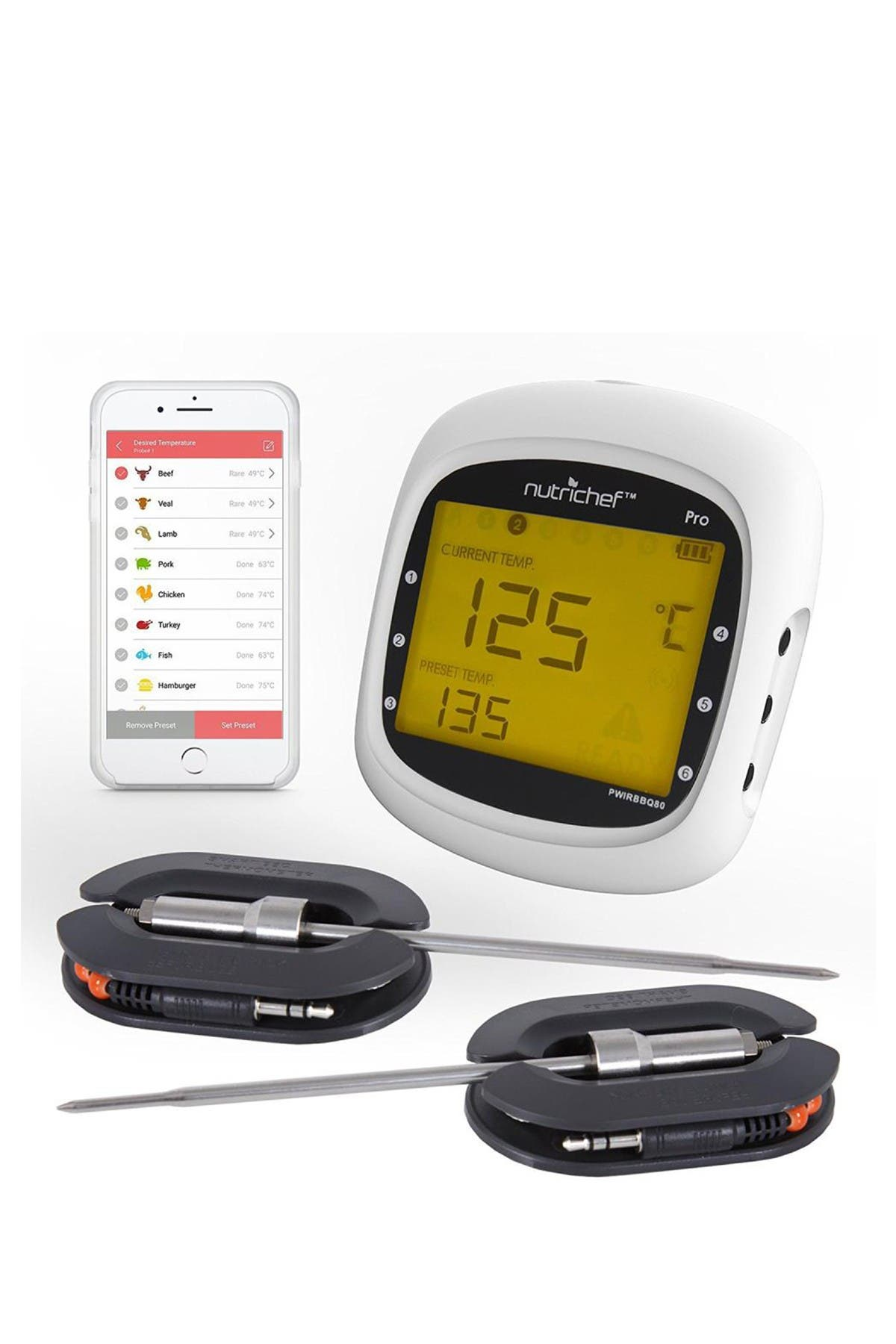 Image of NutriChef Bluetooth Wireless BBQ Digital Thermometer