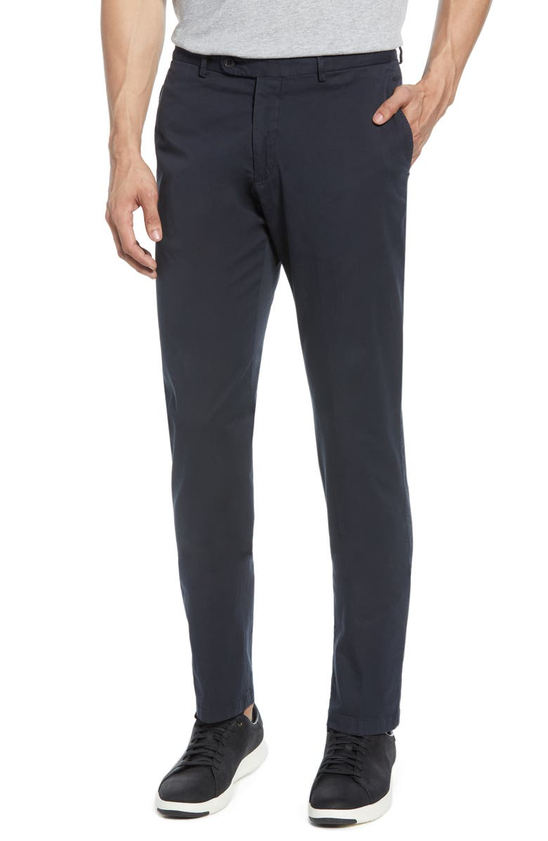 BUGATCHI Slim Straight Leg Chino Pants, Main, color, 015