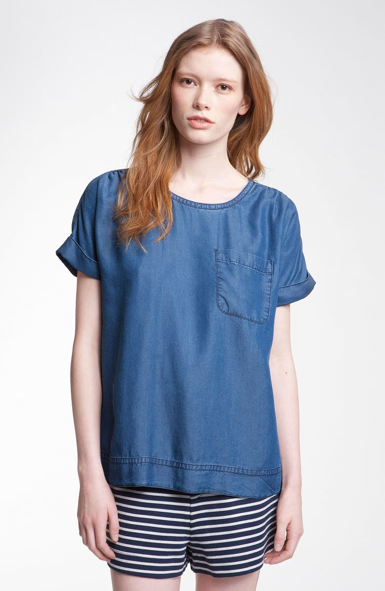 MARC BY MARC JACOBS 'Laurel' Chambray Tee, Main, color, 420